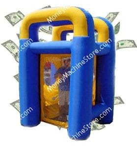 Inflatable Blue Traveler Money Machine